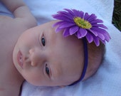 Perfect Purple Gerber Daisy Fancy Flower Headband