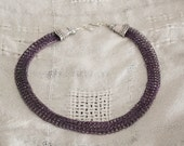 Ribbon Weave Purple Wire Lace Collar