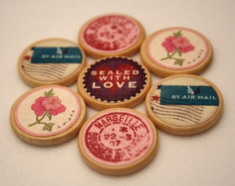 Push Pins or Magnets - Sealed with Love