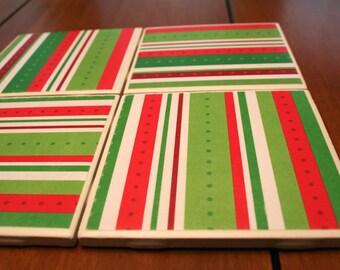 Tile Coasters - Stripes