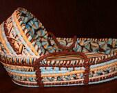 Organic Shells and Stripes Moses Basket
