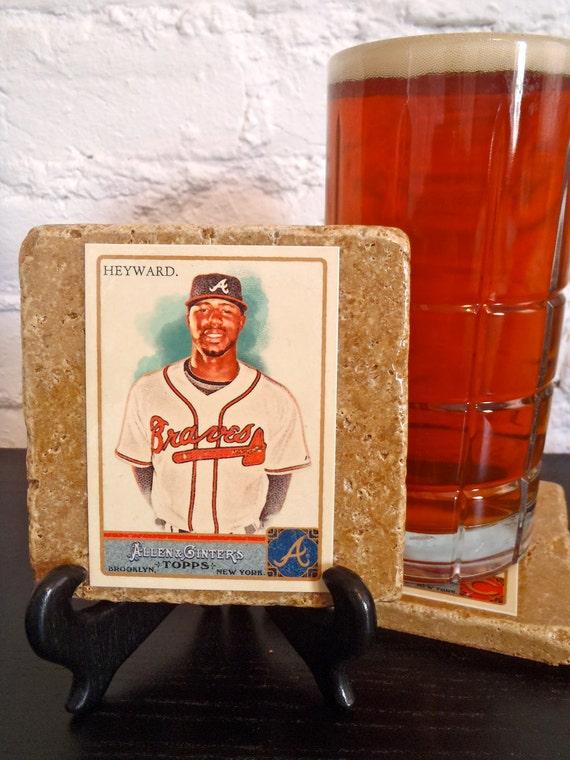 Handmade Stone Sports Coaster - Atlanta Braves Jayson Heyward
