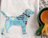 Labrador Flour Sack Towel Baking Print