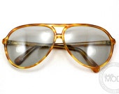 80s Corning Aviator Sunglasses Amber Tortoise