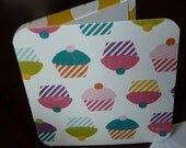 Blank Mini Card Set of 10 - Multi-color Cupcakes, Crafty Creations by CraftySherry  on Etsy