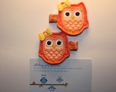 Abby the OWL is two tone- peachy