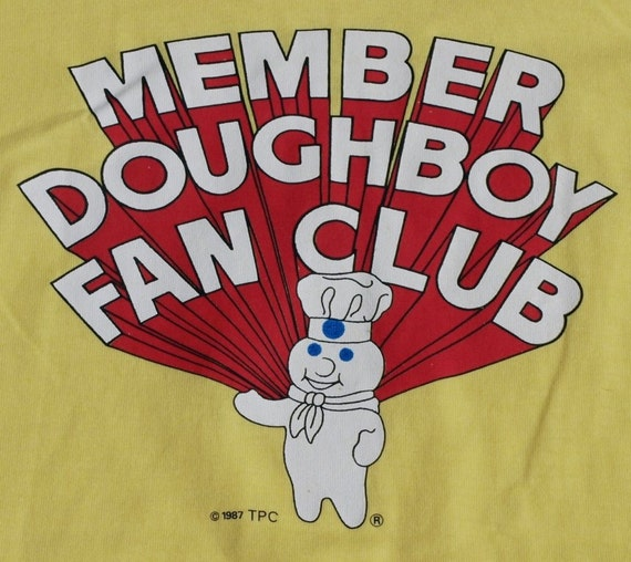 Vintage 1987 Pillsbury Doughboy Fan Club Member T-Shirt 50/50 Soft Thin NEVER WORN
