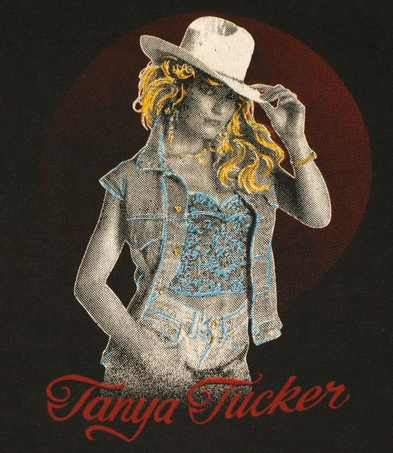 Vintage 1980s Tanya Tucker Classic Country Music Concert Tour T-Shirt