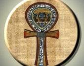 """EGYPTIAN ANKH Ancient Egypt Symbol of LIFE 2.25"""" large Round Fridge Magnet"""