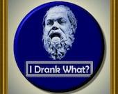 "SOCRATES Last Words Ancient Philosopher Quote 2.25"" large Round Fridge Magnet"
