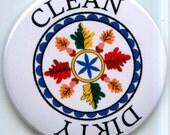 "PENNSYLVANIA PA DUTCH Hex Symbol Dishwasher Clean/Dirty 2.25"" large Round  Magnet"