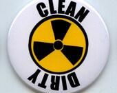"RADIOACTIVE Radiation Warning Sign Symbol Dishwasher Clean/Dirty 2.25"" large Round  Magnet"