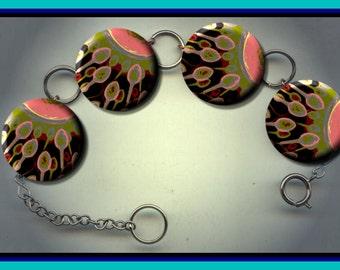 SPERM AND OVUM Biology Stylized Altered Art Charm Bracelet with Rhinestone