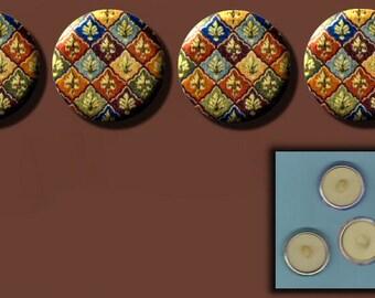 "FLEUR DI LIS 4 Altered Art 1"" Sew-On Shank Buttons"