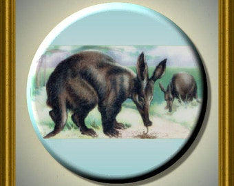 "I LOVE ARDVAARKS Ardvaark 2.25"" Large Round Fridge Magnet"