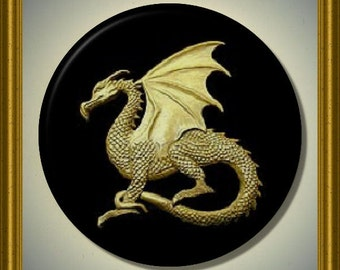 "CELTIC DRAGON Mythology 2.25"" large Round Fridge Magnet"