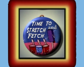 DANCING FOOD at the Drive In Movie Theater Altered Art Charm Pendant with Rhinestone