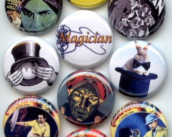 "MAGIC Art of illusion 10 Pinback 1"" Buttons Badges Pins"