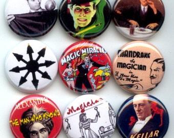 """MAGICIAN Magic 9 Pinback 1"""" Buttons Badges Pins"""