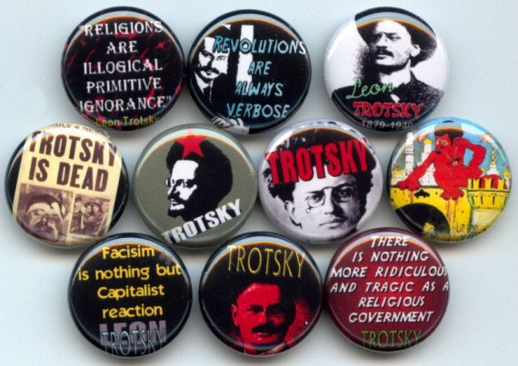 "LEON TROTSKY Russian Marxist Revolutionary 10 Pinback 1"" Buttons Badges Pins"