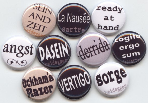 "PHILOSOPHY Sociology quotes lingo concepts 10 Hand Pressed Pinback 1"" Buttons Badges Pins"