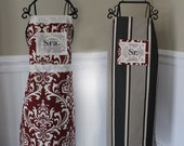 Matching Couple Aprons for Mr. & Mrs. - Great for Carolina Game Day