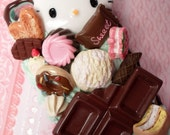 Mint Chocolate Hello Kitty Sweet Decoden Kawaii Deco Case for iPhone 4 4s