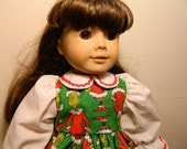"18"" American Girl  - The Grinch Dress - Dr Seuss"