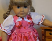 18 in. Doll Dress - American Girl, etc - Valentine Owls
