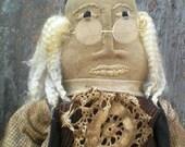 """Americana, Primitive Ben Franklin RUSTIC """"HAFAIR"""