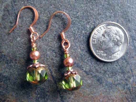 Olive Crystal Cathedral Earrings (SALE)