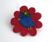 Felt Hair Clip - Little Bright Blue Bird - Stocking Filler
