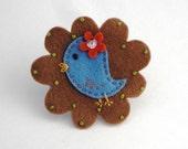 Felt Hair Clip - Little Blue Bird - Stocking Filler