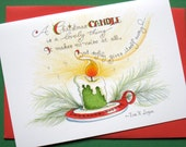 Christmas Candle Card - Christmas Quote - Hand Lettered Holiday Card