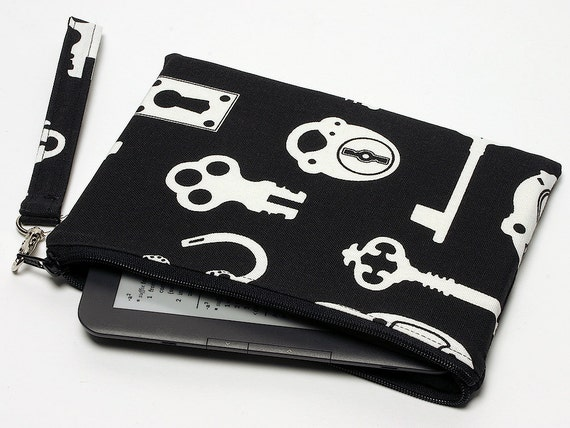 Padded e-Reader Case with Removeable Wrist Strap -Ready to ship -Free Shipping US