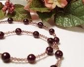 Carnelian & Crystal Necklace
