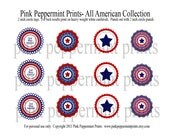 The All American Party Collection PRINTABLE Party Circles