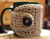 Crochet Coffee Cup Cozy - See Variety Of Tweed Colors Available - Stocking Stuffer - Back To School