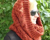 Hand Knit Spice Lambswool and Acrylic Blend Snood
