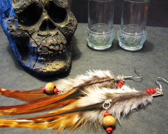 Feather Earrings -Tribal inspired