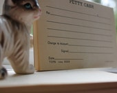 Set of Two Vintage Petty Cash Pads
