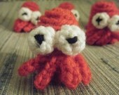 Zoidberg Lobster Squid Crochet Finger Puppet