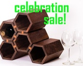 sale -- 45.00 dollars off -- drona - hexagonal wine rack