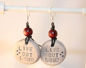 Live Out Loud - Stamped Clay Earrings