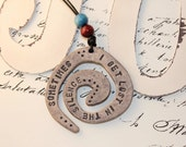 Sometimes I Get Lost In The Silence -  Pendant OOAK