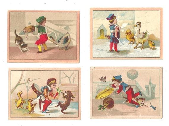 Comic Series, Children with Animals