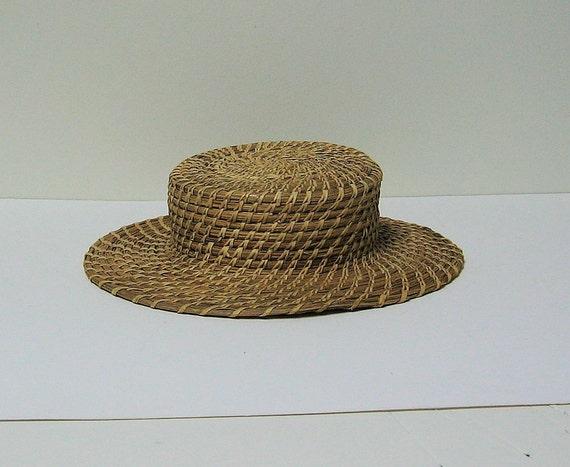 Vintage Native American Pine Needle Hat