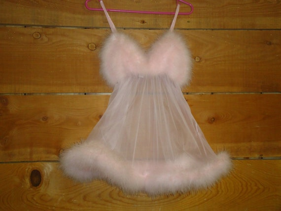 Vintage Frederick S Of Hollywood Short Nightie Pink Baby