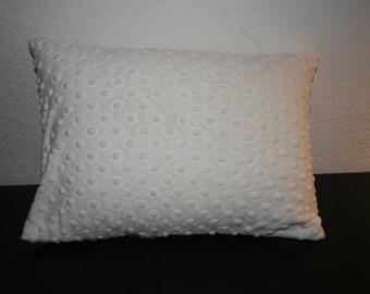 Toddler Pillow - White - with Custom Letter