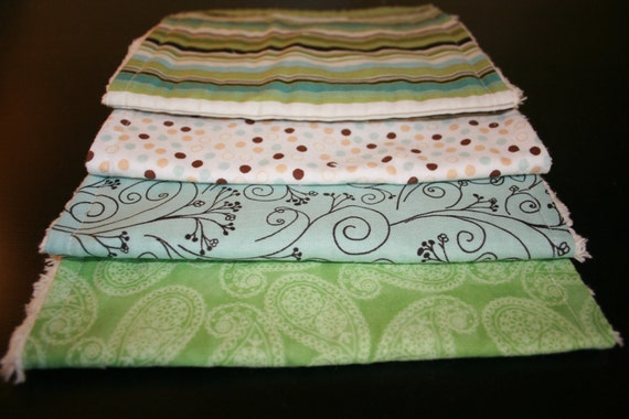 Baby Boy Burp cloths Set of Four